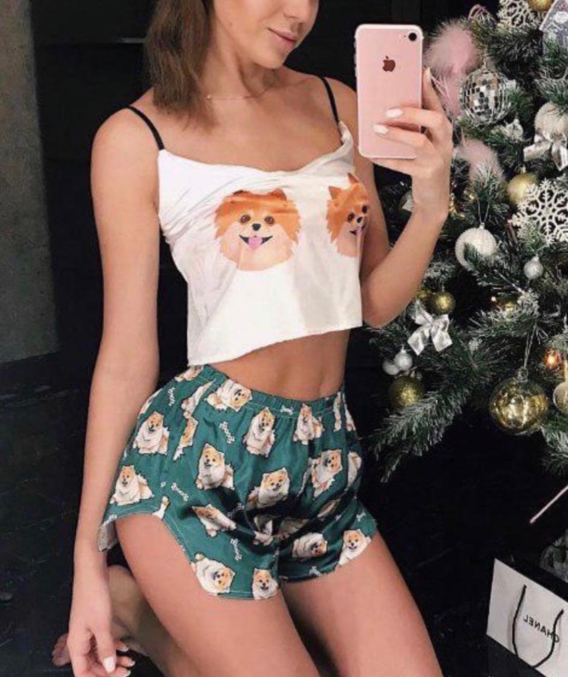 Шелковая пижама Шпиц