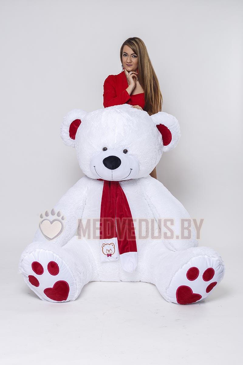 Новогодний мишка My Love 230 белоснежный купить в подарок