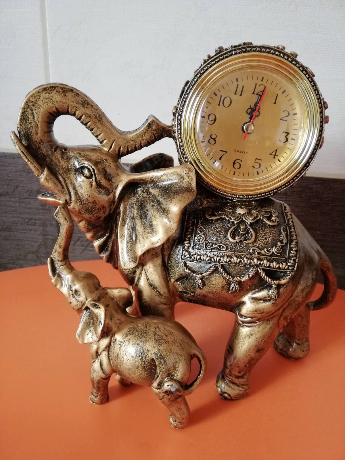 Статуэтка Часы Слоник