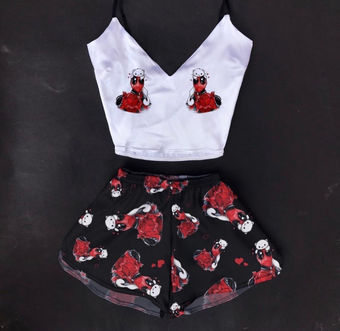 Шелковая пижама Влюбленный Дэдпул