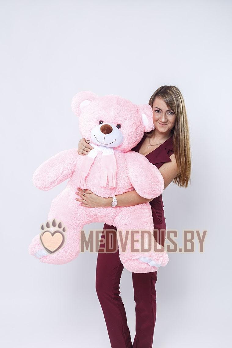 Оскар 120 см Розовый цвет мишки очень нежный и женственный