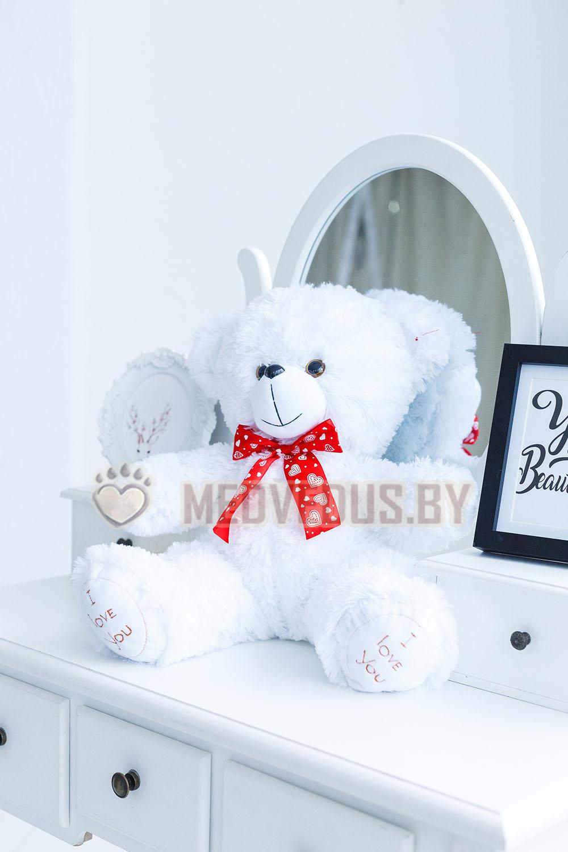 Мишка плюшевый Феликс 60 см, Белый
