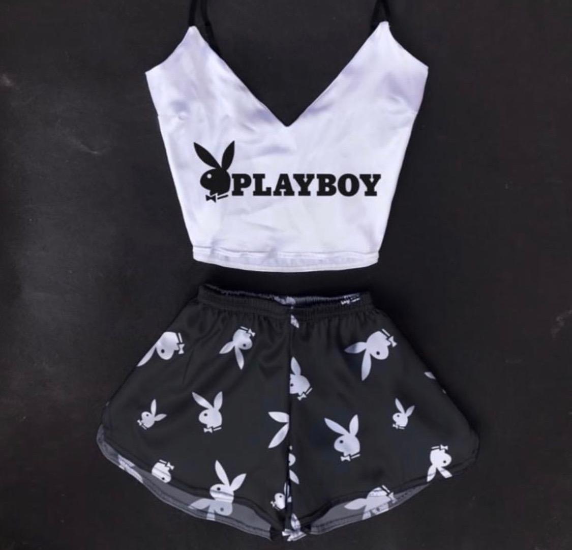 Шелковая пижама Плэйбой