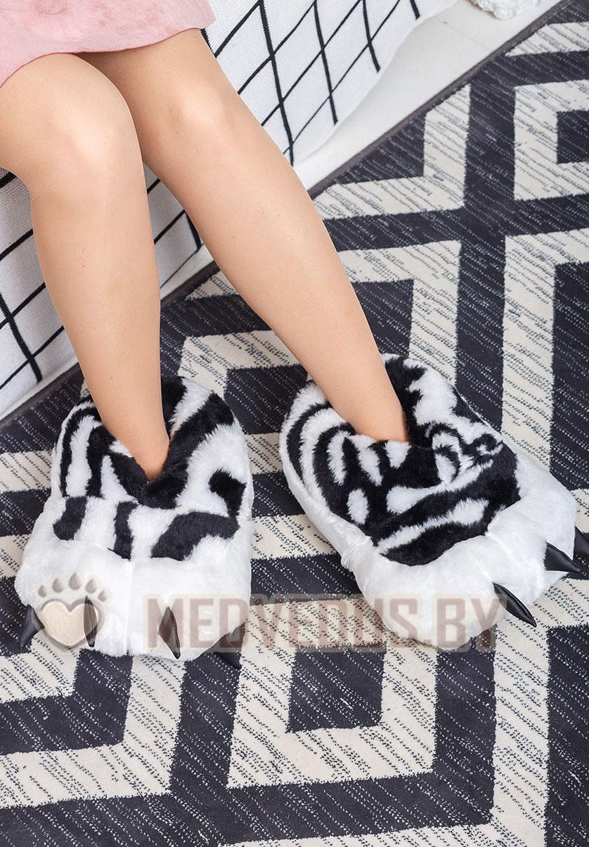 Тапочки зебры 36-45