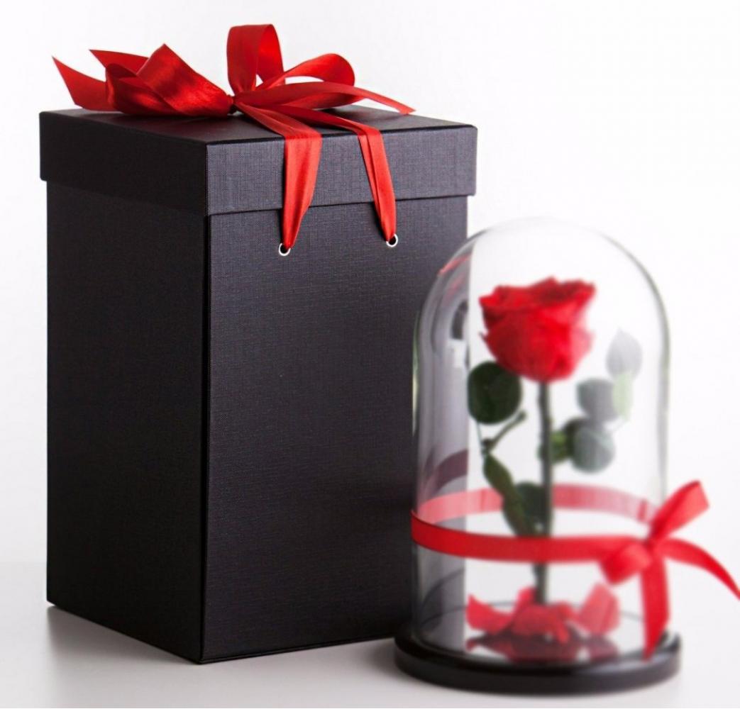 Коробка для розы в колбе 32 см