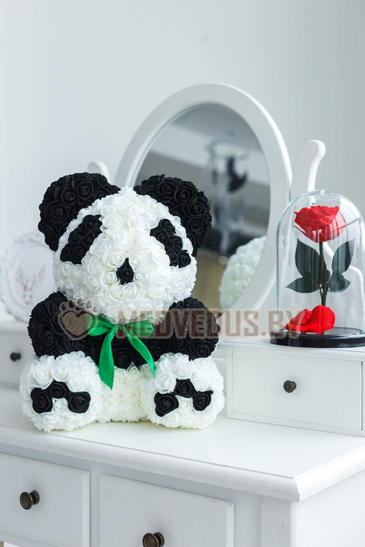 Медведь Панда из 3D роз 45 см Premium