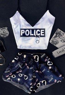Шелковая пижама Полиция Минск