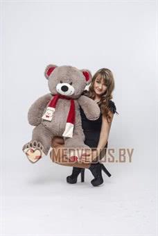 My Love 120 см Бурый с красным шарфом