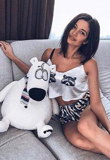 Шелковая пижама Енотики купить в Минске