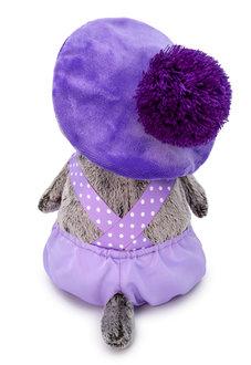 Мягкая игрушка кот Басик в лиловом комплекте, 30 см