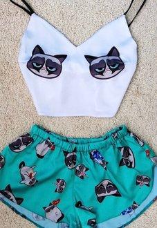 Шелковая пижама Крамби Кот