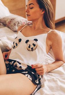 Купить Шелковая пижама Пандочки
